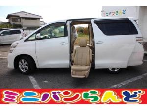 トヨタ ヴェルファイア 2.4X サイドリフトアップシート オートステップ 両側自動ドア スマートキー プッシュスタート ビルトインETC