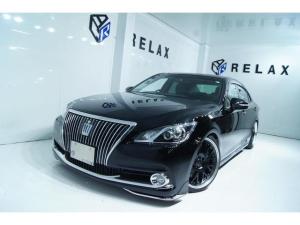トヨタ クラウンマジェスタ Fバージョン 黒本革 新品モデリスタエアロ 新品19ホイール 新品タイヤ 新品車高調 Bluetooth対応ナビ ETC