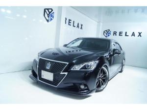 トヨタ クラウンハイブリッド アスリートS 新品バカンスフロントスポイラー 新品19ホイール 新品タイヤ 新品車高調 黒本革シート ETC