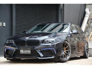 BMW 5シリーズ 523iツーリング Mスポーツパッケージ ENERGYフロントバンパー チューブLEDライト BCレーシング車高調 RAYZボルクレーシング19インチ鍛造 スモークテールレンズ REMUSマフラー