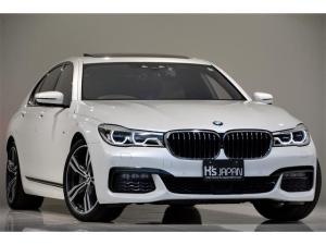 BMW 7シリーズ 740d xDrive Mスポーツ OP合計11万 1オーナー車 BMWレーザーライト サンルーフ TVキャンセラー ミネラルホワイト フロントベンチレーションシート&シートヒーター ヘッドアップディスプレイ