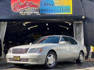 トヨタ セルシオ B仕様 eRバージョン 社外2DINナビ/修復歴無し/外装フルノーマル/ブラックレザーインテリア