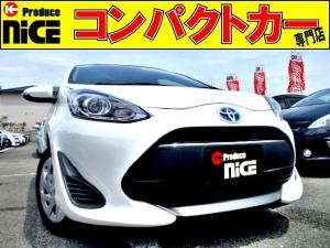トヨタ アクア S 後期型・安全ブレーキ・純正SDナビ・Bluetooth