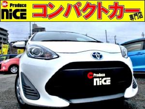 トヨタ アクア L 後期型・安全ブレーキ・社外ナビBluetooth・ETC