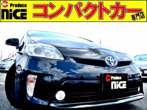トヨタ プリウス S シートカバーバックカメラ・ETC・純正HDDナビ・Bluetooth・フルセグ・車高調・HIDヘッドライト・フォグライト・コーナーポール・ウインカードアミラーオートエアコン・15インチアルミ