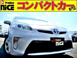 トヨタ プリウス S バックカメラ・純正SDナビ・Bluetooth・ワンセグTV・CD/DVD/SD再生・AUX対応・HIDヘッドライト・スマートキー・プッシュスタート・ウインカーミラー・オートエアコン