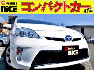 トヨタ プリウス L ETC・純正SDナビ・Bluetooth・ワンセグTV・プッシュスタート・スマートキー・プロジェクターヘッドライト・オートエアコン・ウインカーミラー・アイドリングストップ・15インチアルミ