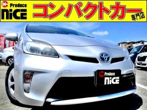 トヨタ プリウス S バックカメラ・ETC・純正SDナビ・Bluetooth・フルセグ・CD/DVD/SDカード再生・HIDヘッドライト・プッシュスタート・スマートキー・ウインカーミラー・オートエアコン・15インチアルミ