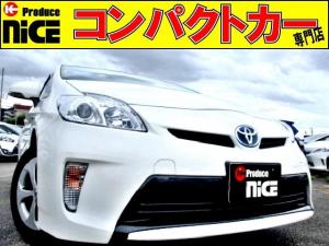 トヨタ プリウス L イクリプスSDナビBluetooth・フルセグ・CD・DVD・SD再生・ETC・スマートキー・プロジェクターヘッドライト・オートエアコン・ウインカーミラー・アイドリングストップ・15インチアルミ