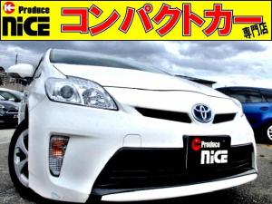 トヨタ プリウス L 純正ナビBluetooth・フルセグ・CD・DVD・SDカード再生・ETC・オートエアコン・プッシュスタート・プロジェクターヘッドライト・ウインカードアミラー・アイドリングストップ・後期型