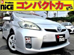 トヨタ プリウス L ETC・イクリプスSDナビ・Bluetooth・フルセグTV・プロジェクターヘッドライト・オートエアコン・15AW・プッシュスタート・スマートキー・ウインカーミラー