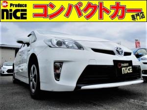 トヨタ プリウス S 純正SDナビ・Bluetooth・AUX対応・ETC・HIDヘッドライト・プッシュスタート・スマートキー・オートエアコン・プロジェクターヘッドライト・ウィンカードアミラー・アイドリングストップ