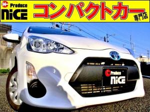 トヨタ アクア L ドライブレコーダー・ETC・カロッツェリアメモリーナビ・オートエアコン・キーレスエントリー・アイドリングストップ・プロジェクターライト・ウィンカードアミラー