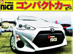 トヨタ アクア L バックカメラ・ETC・イクリプスSDナビ・ワンセグTV・オートエアコン・アイドリングストップ・プロジェクターヘッドライト・ウインカーミラー