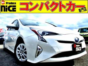トヨタ プリウス S 安全ブレーキ・コーナーセンサー・クルコン・オートハイビーム・フォグライト・LEDヘッドライト・バックカメラ・ETC・純正SDナビ・Bluetooth・プッシュスタート・ウィンカーミラー
