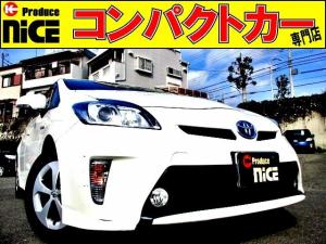 トヨタ プリウス S 後期型・ETC・純正メモリーナビ・ワンセグTV・フォグライト・HIDヘッドライト・オートエアコン・Pスタート・スマートキー・ウインカードアミラー・アイドリングストップ