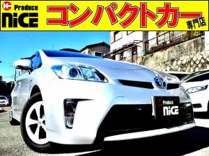 トヨタ プリウス S 後期型・バックカメラ・ETC・純正SDナビ・Bluetooth・フルセグTV・HIDヘッドライト・プッシュスタート・ウインカーミラー・オートエアコン・アイドリングストップ