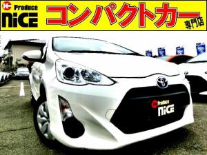 トヨタ アクア L ドライブレコーダー・純正ナビ・Bluetooth・ETC・プロジェクターヘッドライト・オートエアコン・電動格納式ウインカードアミラー・14インチタイヤ