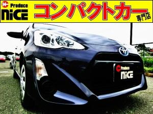 トヨタ アクア S スマートキー・純正SDナビ・Bluetooth・TV・バックカメラ・ETC・プロジェクターヘッドライト・プッシュスタート・オートエアコン・ウインカードアミラー・中期型