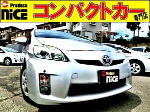 トヨタ プリウス S ETC・コーナーセンサー・純正オーディオ・スマートキー・フォグライト・プロジェクターヘッドライト・プッシュスタート・オートエアコン・15AW・ウインカードアミラー