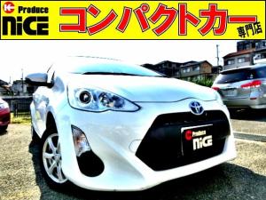 トヨタ アクア L 純正SDナビ・Bluetooth・ETC・14AWスタッドレスタイヤ・オートエアコン・キーレス・プロジェクターヘッドライト・ウインカードアミラー・アイドリングストップ