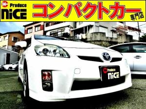 トヨタ プリウス S ETC・純正HDDナビ・ワンセグTV・スマートキー・プッシュスタート・オートエアコン・フォグライト・プロジェクターヘッドライト・ウインカーミラー・アイドリングストップ