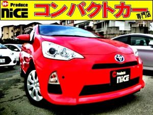 トヨタ アクア S バックカメラ・ETC・純正SDナビ・Bluetooth・ワンセグTV・コーナーセンサー・オートエアコン・プロジェクターヘッドライト・ウインカードアミラー・キーレス