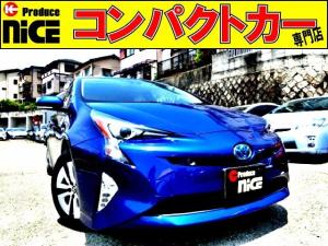 トヨタ プリウス A ドラレコ・純正ナビ・Bluetooth・ワンセグTV・Bカメラ・ETC・安全ブレーキ・クルコン・コーナーセンサー・社外シートカバー・HUD・LEDヘッドライト・フォグライト・スマートキー