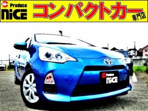 トヨタ アクア S スマートキー・プッシュスタート・Bカメラ・ETC・純正ナビ・Bluetooth・ワンセグTV・オートエアコン・プロジェクターヘッドライト・ウインカードアミラー・アイドリングストップ
