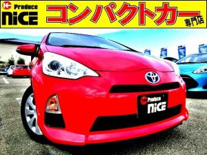 トヨタ アクア S スマートキー・純正SDナビ・Bluetooth・フルセグTV・バックカメラ・オートエアコン・プッシュスタート・オートエアコン・ウインカードアミラー・15インチタイヤ