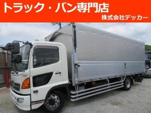 日野 ヒノレンジャー 7.6t 増トン 荷寸L664W240H210アルミウイング