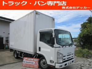 いすゞ エルフトラック 2トン パネルバン 荷寸L433 W176 H244 全低床 6速AT ETC バックカメラ ターボ レベライザー ASR アイドリングストップ DPF キーレス 左電格 ラッシングレール2段 オーバーヘッドコンソール 暖気システム 日本トレクス製
