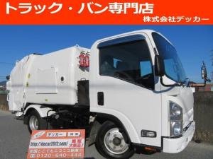 いすゞ エルフトラック 2トン エルフ 回転式ダンプパッカー 4.2立米 連続スイッチ有 アイドリングストップ ASR 坂道発進補助装置付 DPD レベライザー オーバーヘッドコンソール 左電格ミラー ターボ  3ペダル