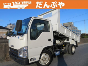 いすゞ エルフトラック 3トン 強化ダンプ 全低床 6MT 荷寸305-158-37 いすゞ 3ペダル 荷台塗装済 ピン加工有 コボレーン 集中ロック有 レベライザー 4ナンバー ADJUST ASR DPD