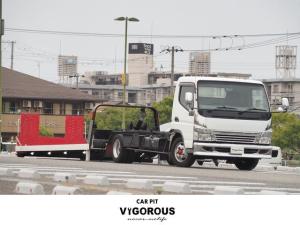 三菱ふそう キャンター 積載車 極車フラトップ ナビ Bカメラ ETC 6MTターボ