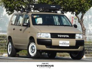 トヨタ プロボックスバン DX リフトアップ DEAN15AW M/Tタイヤ ルーフキャリア ウッドステアリング ETC CD TOYOTAエンブレム付グリル 4WD