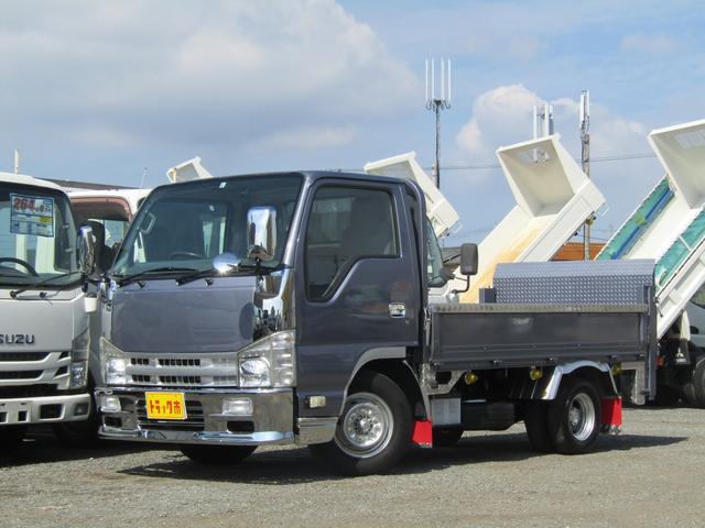 積載1500kg総重量5t未満低床新明和パワーゲート 荷台鉄板張り 4ナンバー バックモニター スムーサーAT メッキ架装