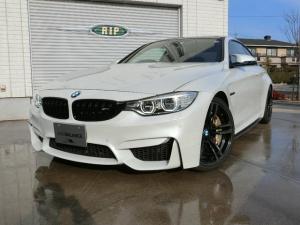 BMW M4 M4クーペ M4クーペ(4名) 6MT カーボンブレーキ 右ハンドル パールホワイトDMEチューン ビルシュタイン車高調 ブラックレザーインテリア