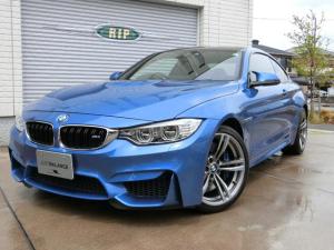 BMW M4 M4クーペ 6MT 特注エストリルブルー 右ハンドル ブラックレザー 地デジ&バックカメラ 1オーナー