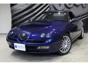 アルファロメオ アルファスパイダー 3.0 V6 24V サクラムマフラー 電動オープン 黒革 6速MT 車検令和4年10月 ETC CD