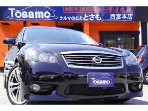 日産 フーガ 450GT タイプS セミアニリン本革シート/HDDナビ/フルセグ/サイドカメラ/バックカメラ/純正エアロ/シートエアコン/インテリジェントクルーズコントロール/パドルシフト/ETC/HIDライト