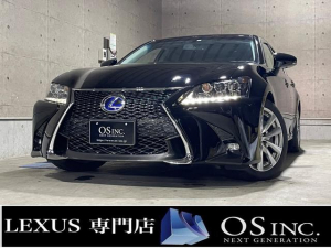 レクサス GS  450h/Ipkg/現行Fスポーツスピンドグリル仕様/三眼LED/コーナーセンサー/BLKレザー/パワーシート/シートヒーター/シートエアコン/純正ナビ/フルセグ/バックカメラ/クルーズコントロール
