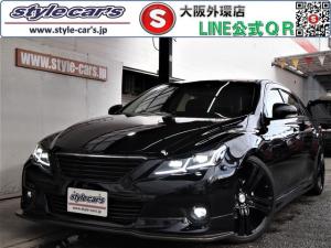 トヨタ マークX 250G リラックスセレクション 新品LEDヘッドライト/シーケンシャルウインカー/フルエアロ/社外マフラー/新品TEIN車高調/19インチアルミ/社外LEDテール/ナビ/地デジ/Bluetooth/革調シートカバー/スマートキー