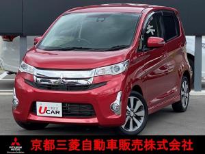 三菱 eKカスタム T e-アシスト ワンオーナー車 CD オートライト E-アシスト付