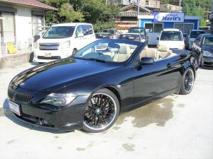 BMW 6シリーズ 645Ciカブリオレ 電動オープン・右ハンドル・ベージュレザー・20inアルミ・ローダウン・純正HIDヘッドライト・LEDエンジェルアイ・純正ナビ・純正ブラック