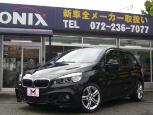 BMW 2シリーズ 218dアクティブツアラー Mスポーツ 純正HDDナビ/CD・DVD・MSV・Bluetooth/バックカメラ/衝突軽減/コーナーセンサー/ドライブレコーダー/ETC/サイド・カーテンエアバッグ/LEDヘッドライト/走行約23.900km