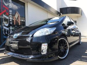 トヨタ プリウス G 新品エアロ 新品19AWタイヤ 新品黒革調シートカバー