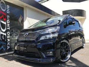 トヨタ ヴェルファイア 2.4Z プラチナセレクションII 新品22AW 新品黒革調シートカバー フロントエアロ