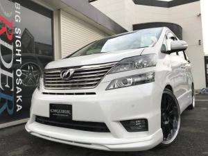 トヨタ ヴェルファイア 2.4Z プラチナムセレクション 新品22インチAW新品エアロ新品ローダウンサス