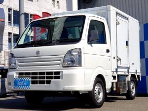 スズキ キャリイトラック KCエアコン・パワステ 禁煙車 冷蔵冷凍車(マイナス5度30度) 左Rドアあり R観音開きドア 社外HDDナビ フルセグ(AVIC-HRZ900) Bluetooth対応 社外シフトノブ 社外マフラー ETC